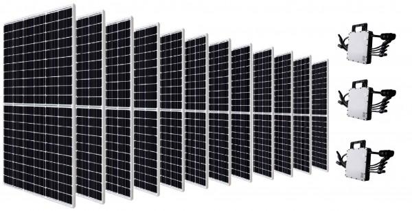Canadian Solar Balkonkraftwerk PV-Anlage 3900 W inkl. Wechselrichter 3x HM-1200