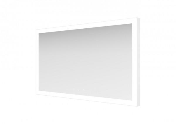 ESS Spiegel Mirror Lugano Weiß 70x100 cm, Leiste