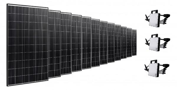 WINAICO Balkonkraftwerk PV-Anlage 3900 W inkl. Wechselrichter 3x HM-1200