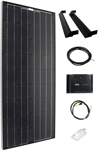 Solar Swiss Solaranlage KVM-Caravan 190 Wp - Schwarz