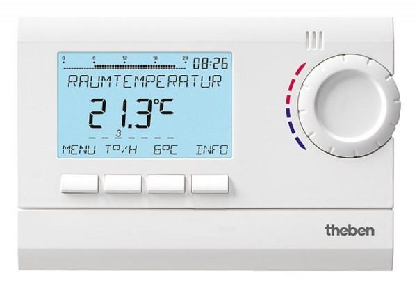 RAMSES 832 top Uhrenthermostat digital 24h/7d, Ferienprogramm RAL 9010 weiß (Netzversion)